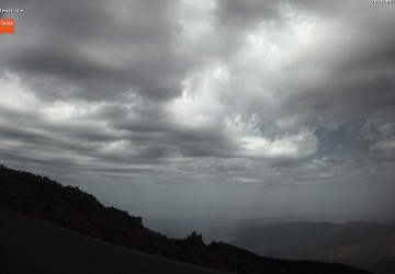 Webcam view north blue skies over Mt Teide
